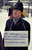 Protesto de Bucareste - 1ö dia 4 Imagens de Stock