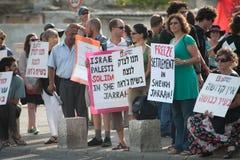 Protesto de encontro aos estabelecimentos de Jerusalem do leste fotos de stock royalty free
