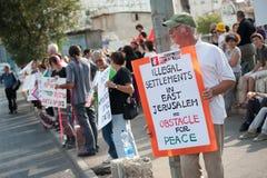 Protesto de encontro aos estabelecimentos de Jerusalem do leste fotos de stock