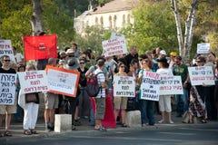Protesto de encontro aos estabelecimentos de Jerusalem do leste foto de stock royalty free