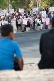 Protesto de encontro aos estabelecimentos de Jerusalem do leste foto de stock