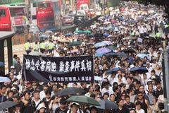 Protesto de Hong Kong sobre mortes do refém de Manila Imagens de Stock