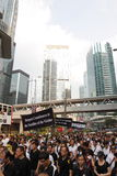 Protesto de Hong Kong sobre mortes do refém de Manila Fotografia de Stock