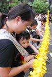 Protesto de Hong Kong sobre mortes do refém de Manila Imagem de Stock