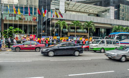 Protesto de Kuala Lumpur Employees grande do milênio ' Foto de Stock