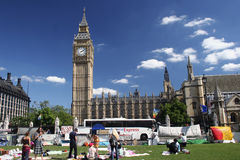 Protesto de Londres foto de stock