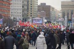 Protesto de Moscovo, 2ô dezembro 2011 Fotos de Stock Royalty Free