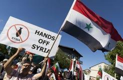 Protesto de Síria Imagens de Stock Royalty Free