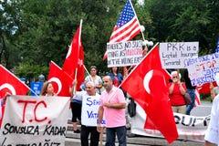 Protesto de Union Square - Turquia imagem de stock