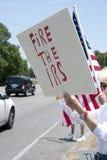 Protesto do IRS Imagem de Stock