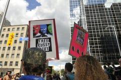Protesto do motim do bichano em Toronto Canadá. Fotos de Stock Royalty Free