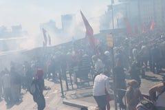 Protesto do parque de Taksim Fotos de Stock Royalty Free