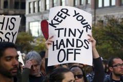 Protesto do trunfo Fotos de Stock Royalty Free