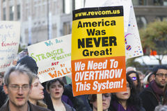 Protesto do trunfo Imagens de Stock