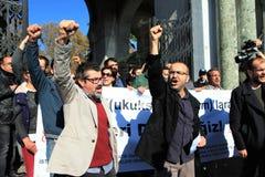 Protesto dos Academics em Turquia imagens de stock