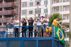 Protesto dos brasileiros contra o governo e o presidente foto de stock royalty free