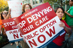 Protesto dos cuidados médicos Fotografia de Stock Royalty Free