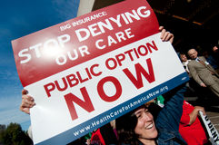 Protesto dos cuidados médicos Imagem de Stock Royalty Free
