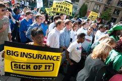 Protesto dos cuidados médicos Fotografia de Stock