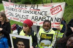 Protesto dos direitos humanos Imagem de Stock