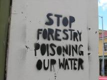 Protesto dos grafittis fotos de stock