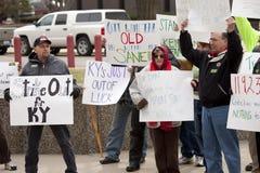 Protesto dos manifestantes Imagens de Stock