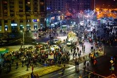 Protesto dos Romanians contra o decreto da corrupção, Romênia imagens de stock