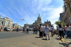 Protesto dos trabalhadores no congresso de Argentina Fotografia de Stock Royalty Free