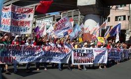 Protesto durante o dia dos direitos humanos Imagem de Stock Royalty Free