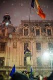 Protesto em Bucareste, Romênia Imagens de Stock