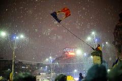 Protesto em Bucareste, Romênia Foto de Stock