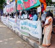 Protesto em indígenas urbanos do apoio, Índia Imagens de Stock