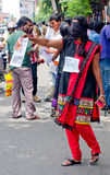 Protesto em indígenas urbanos do apoio, Índia Fotos de Stock
