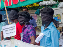 Protesto em indígenas urbanos do apoio, Índia Fotos de Stock Royalty Free