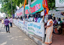 Protesto em indígenas urbanos do apoio, Índia Fotografia de Stock Royalty Free