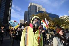 Protesto ereto da rocha em Toronto imagem de stock royalty free