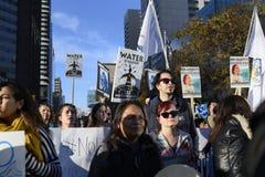 Protesto ereto da rocha em Toronto foto de stock royalty free