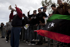 Protesto líbio da embaixada Imagem de Stock Royalty Free