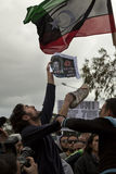 Protesto líbio da embaixada fotos de stock