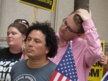 Protesto na reunião do trunfo foto de stock royalty free