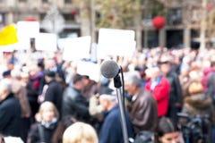 Protesto ou demonstração política foto de stock