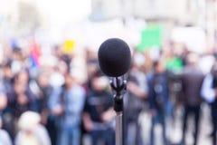 Protesto ou reuni?o pol?tica foto de stock royalty free