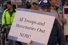 Protesto pacífico Imagem de Stock