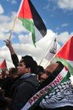 Protesto palestino dos povos Fotos de Stock Royalty Free
