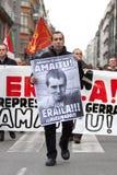 Protesto para a morte de Jon Anza Fotos de Stock Royalty Free