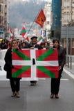 Protesto para o desaparition de Jon Anza Imagens de Stock