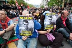 Protesto para o desparition de Jon Anza Imagem de Stock Royalty Free