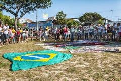 Protesto popular no dia da independência de Brasil Foto de Stock Royalty Free