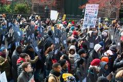 Protesto preto da matéria das vidas Fotografia de Stock Royalty Free