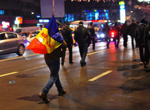 Protesto romeno 19/01/2012 - 1 Imagem de Stock